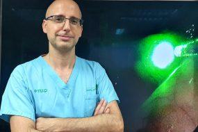 Синий лазер для удаления опухолей и поражений голосовых связок.